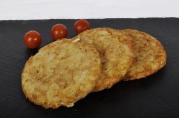 Le râpé de pommes de terre est produit à partir de pommes de terre spécialement sélectionnées pour leurs qualités.Doré, croustillant et goûteux.